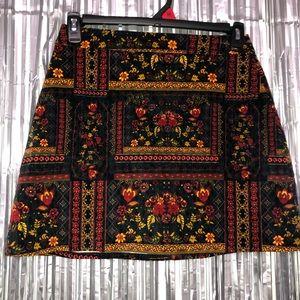 H&M Coachella Collection Versace Look Velvet Skirt